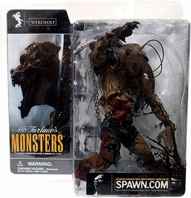 McFarlane Monsters Series 1 Action Figure Werewolf [Blood Splattered Package Variant]