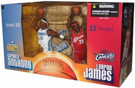 McFarlane Toys NBA Sports Picks Action Figure 2-Pack Carmelo Anthony (Denver Nuggets) & Lebron James (Cleveland Cavaliers)