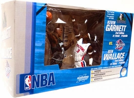 McFarlane Toys NBA Sports Picks Action Figure 2-Pack Kevin Garnett (Minnesota Timberwolves) & Ben Wallace (Detroit Pistons)