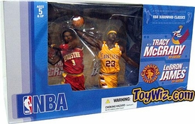 McFarlane Toys NBA Sports Picks Action Figure 2-Pack Tracy McGrady (Houston Rockets) & LeBron James (Cleveland Cavaliers)