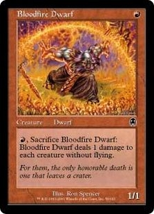 Magic the Gathering Apocalypse Single Card Common #56 Bloodfire Dwarf