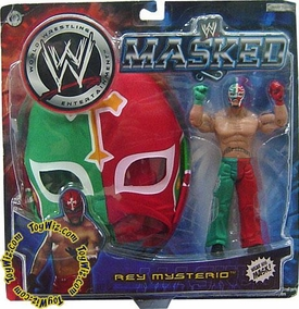 WWE Wrestling Exclusive Rey Mysterio Action Figure with Red & Green Mask BLOWOUT SALE!