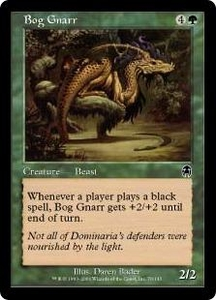Magic the Gathering Apocalypse Single Card Common #76 Bog Gnarr