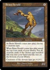 Magic the Gathering Apocalypse Single Card Uncommon #133 Brass Herald
