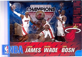 McFarlane Toys NBA Sports Picks Championship Edition Action Figure 3-Pack LeBron James, Chris Bosh & Dwyane Wade (Miami Heat) White Uniforms