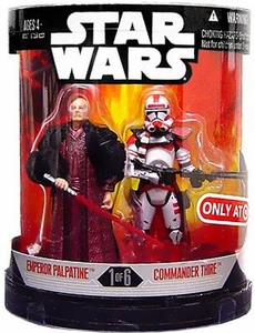 Star Wars 30th Anniversary Saga 2007 Exclusive Action Figure 2-Pack Order 66 Emperor Palpatine & Commander Thire [1 of 6]