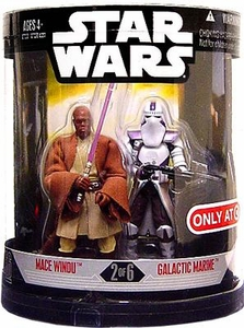 Star Wars 30th Anniversary Saga 2007 Exclusive Action Figure 2-Pack Order 66 Mace Windu & Galactic Marine [2 of 6] BLOWOUT SALE!