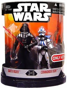 Star Wars 30th Anniversary Saga 2007 Exclusive Action Figure 2-Pack Order 66 Darth Vader & Commander Bow [3 of 6]