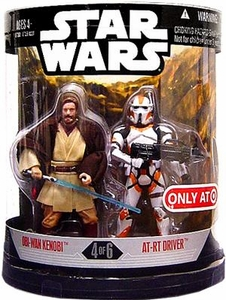 Star Wars 30th Anniversary Saga 2007 Exclusive Action Figure 2-Pack Order 66 Obi-Wan & AT-RT Driver [4 of 6]
