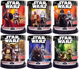 Star Wars 30th Anniversary Saga 2007 Exclusive Set of 6 Order 66 Action Figure 2-Packs