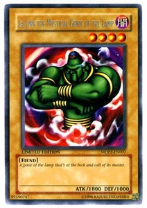 YuGiOh McDonald's Limited Edition 2 Promo Card Rare MDP2-EN007 La Jinn the Mystical Genie of the Lamp