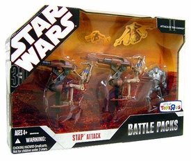 Star Wars 30th Anniversary Saga 2008 Exclusive Action Figure Battle Pack Stap Attack
