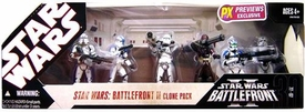 Star Wars 30th Anniversary Saga 2007 Exclusive Action Figure 6-Pack Battlefront II Clone Pack