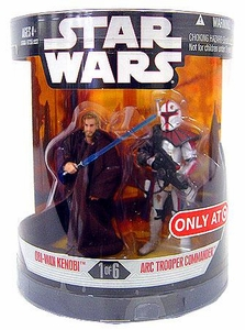 Star Wars Saga 2008 Exclusive Order 66 Action Figure 2-Pack Obi-Wan Kenobi & Arc Trooper Commander [1 of 6]