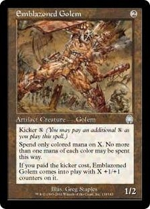 Magic the Gathering Apocalypse Single Card Uncommon #136 Emblazoned Golem