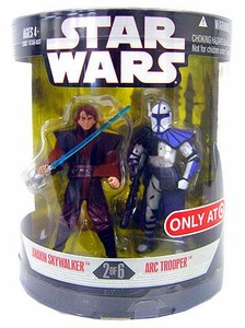 Star Wars Saga 2008 Exclusive Order 66 Action Figure 2-Pack Anakin Skywalker & Arc Trooper [2 of 6]