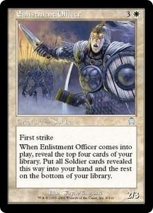 Magic the Gathering Apocalypse Single Card Uncommon #9 Enlistment Officer