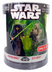 Star Wars Saga 2008 Exclusive Order 66 Action Figure 2-Pack Luminara Unduli & AT-RT Driver [5 of 6]