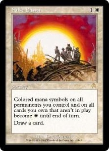 Magic the Gathering Apocalypse Single Card Rare #10 False Dawn