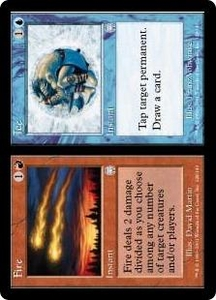 Magic the Gathering Apocalypse Single Card Uncommon #128 Fire // Ice