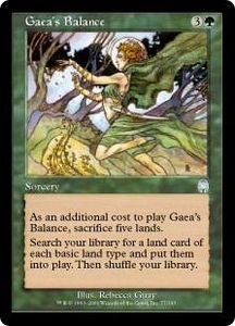 Magic the Gathering Apocalypse Single Card Uncommon #77 Gaea's Balance