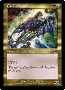 Magic the Gathering Apocalypse Single Card Common #101 Gaea's Skyfolk