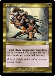 Magic the Gathering Apocalypse Single Card Uncommon #102 Gerrard's Verdict