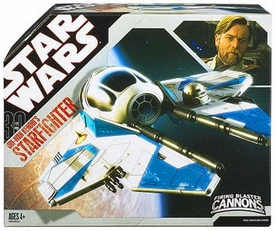 Star Wars 30th Anniversary Saga 2007 Vehicle Obi-Wan Episode III Blue Jedi Starfighter