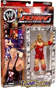 WWE Jakks Pacific Wrestling Action Figure Raw 10th Anniversary Kurt Angle