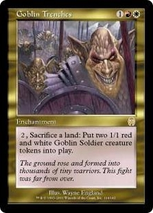 Magic the Gathering Apocalypse Single Card Rare #104 Goblin Trenches