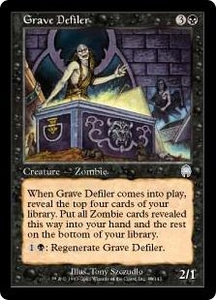Magic the Gathering Apocalypse Single Card Uncommon #40 Grave Defiler