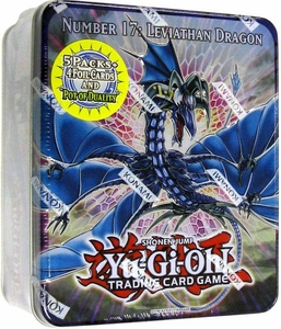 YuGiOh ZEXAL 2011 Wave 1 Collector Tin Set Number 17: Leviath Dragon [Includes: 5 Packs + Pot of Duality, Stygian Street Patroly, Beast King Barbaros & Dark Simorgh]