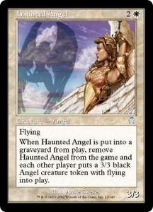 Magic the Gathering Apocalypse Single Card Uncommon #12 Haunted Angel