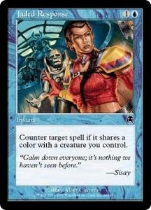 Magic the Gathering Apocalypse Single Card Common #26 Jaded Response