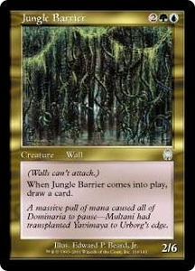 Magic the Gathering Apocalypse Single Card Uncommon #106 Jungle Barrier