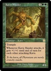 Magic the Gathering Apocalypse Single Card Rare #80 Kavu Mauler