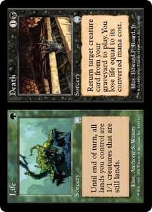 Magic the Gathering Apocalypse Single Card Uncommon #130 Life // Death