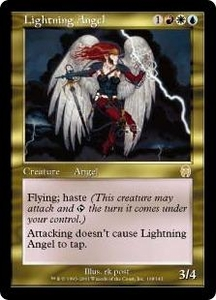 Magic the Gathering Apocalypse Single Card Rare #108 Lightning Angel