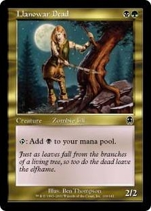 Magic the Gathering Apocalypse Single Card Common #109 Llanowar Dead