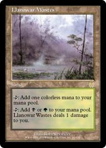 Magic the Gathering Apocalypse Single Card Rare #141 Llanowar Wastes Played Condition