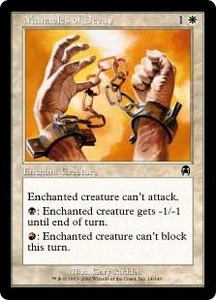 Magic the Gathering Apocalypse Single Card Common #14 Manacles of Decay