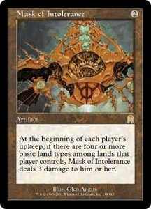 Magic the Gathering Apocalypse Single Card Rare #138 Mask of Intolerance