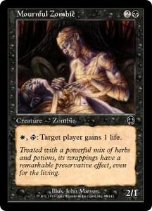 Magic the Gathering Apocalypse Single Card Common #43 Mournful Zombie