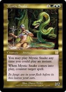 Magic the Gathering Apocalypse Single Card Rare #112 Mystic Snake