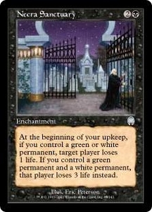 Magic the Gathering Apocalypse Single Card Uncommon #45 Necra Sanctuary