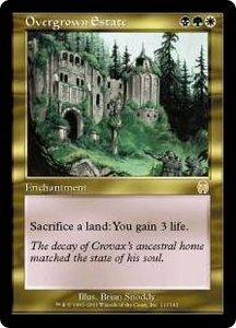 Magic the Gathering Apocalypse Single Card Rare #113 Overgrown Estate