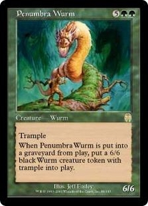 Magic the Gathering Apocalypse Single Card Rare #84 Penumbra Wurm