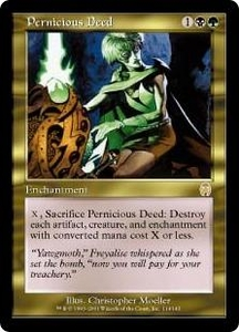 Magic the Gathering Apocalypse Single Card Rare #114 Pernicious Deed