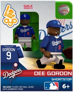 OYO Baseball MLB Generation 2 Building Brick Minifigure Dee Gordon [Los Angeles Dodgers]