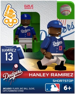 OYO Baseball MLB Generation 2 Building Brick Minifigure Hanley Ramirez [Los Angeles Dodgers]